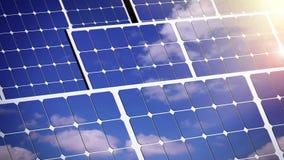 Zonnepanelen op een dak stock illustratie