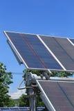Zonnepanelen op een dak Royalty-vrije Stock Foto