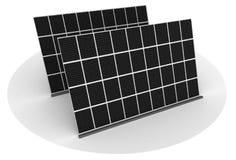 Zonnepanelen op een dak Stock Foto