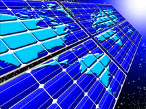 Zonnepanelen op ruimte Royalty-vrije Stock Afbeelding