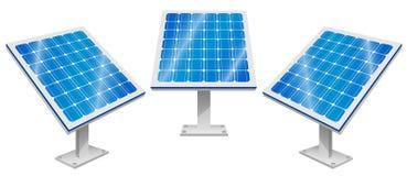 Zonnepanelen, Zonnemacht, Duurzame energie stock illustratie