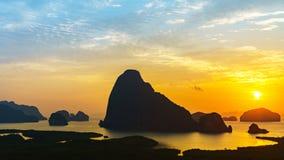 Zonneschijn op eiland Royalty-vrije Stock Foto's
