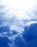 Zonneschijn op wolk Stock Afbeelding
