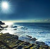 Zonneschijn over strand Maroubra Stock Foto