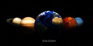 Zonnestelsel en ruimtevoorwerpen Elementen van dit die beeld door NASA wordt geleverd Stock Foto's