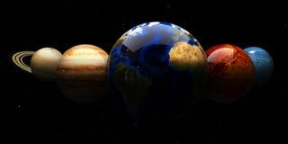 Zonnestelsel en ruimtevoorwerpen Elementen van dit die beeld door NASA wordt geleverd Royalty-vrije Stock Fotografie