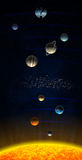 Zonnestelsel met Planeet X Stock Foto's