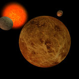 Zonnestelsel - Venus Stock Afbeelding