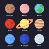 Zonnestelselplaneten Stock Afbeeldingen