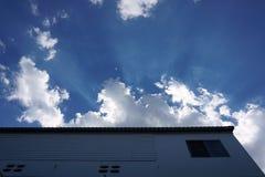 zonnestraal stock foto