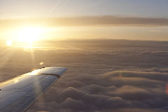 Zonnestraal boven de hemel royalty-vrije stock fotografie