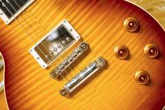 Zonnestraal Elektrische gitaar royalty-vrije stock fotografie