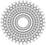 Zonnestraal Mandala Stock Afbeelding