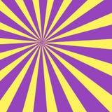 Zonnestraal met Gele Pastelkleur voor Stralen en Stralen Multitone explosion in Perspectief met Diepte creatief royalty-vrije illustratie