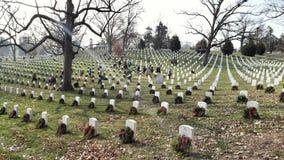 Zonnestraal op de Nationale Begraafplaats van Arlington stock foto's