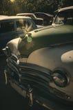 Zonnestraal op het mooie uitstekende autodetail in Cuba royalty-vrije stock afbeeldingen