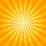 Zonnestraal oranje achtergrond Vector illustratie Stock Afbeelding