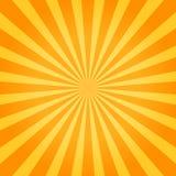 Zonnestraal oranje achtergrond Vector illustratie Stock Foto