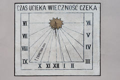 Zonnewijzer in Wadowice Stock Afbeelding
