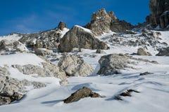 Zonnig de winterlandschap Stock Afbeeldingen