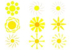 Zonnig die pictogram voor uw fantasie wordt geplaatst royalty-vrije illustratie