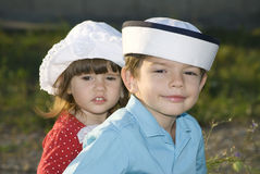 Zonnig familieportret Royalty-vrije Stock Foto's
