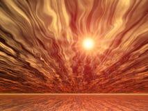 Zonnig landschap vector illustratie