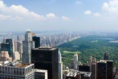 Zonnig Manhattan stock fotografie