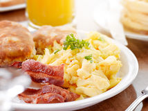 Zonnig ontbijt Stock Afbeelding