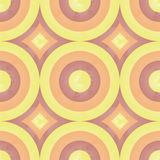 Zonnig retro patroon (cirkel) Royalty-vrije Stock Fotografie