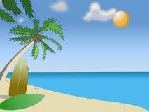 Zonnig strand vector illustratie
