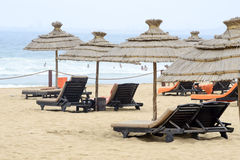 Zonnig strand Royalty-vrije Stock Foto
