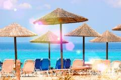 Zonnig strand Royalty-vrije Stock Afbeelding