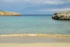 Zonnig strand Stock Afbeelding