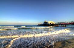 Zonnig strand Stock Afbeeldingen