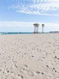 Zonnig strand Alicante, Costa Blanca Royalty-vrije Stock Afbeeldingen
