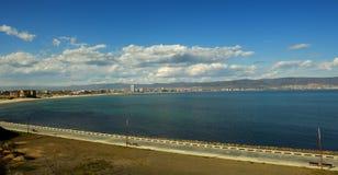 Zonnig strand - Bulgarije royalty-vrije stock afbeeldingen