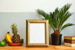 Zonnig tropisch de zomer binnenlands concept Stock Afbeelding