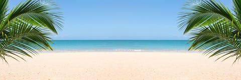 Zonnig tropisch strand royalty-vrije stock fotografie