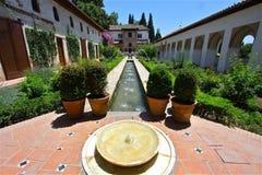 Zonnige Alhambra Royalty-vrije Stock Afbeelding