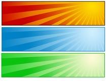 Zonnige bannerreeks Royalty-vrije Stock Afbeeldingen