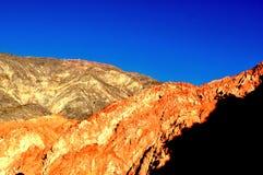 Zonnige bergen Stock Foto's