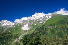 Zonnige dag in Alpen Royalty-vrije Stock Foto