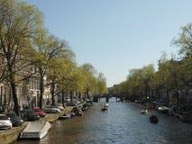 Zonnige dag in Amsterdam Stock Afbeeldingen