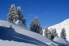 Zonnige dag in bergen royalty-vrije stock afbeelding