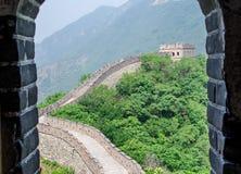 Zonnige dag bij de grote muur van China royalty-vrije stock foto's