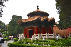 Zonnige dag bij de Verboden Stad, Peking, China stock afbeelding