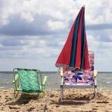 Zonnige dag bij het strand Stock Afbeelding