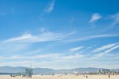 Zonnige dag bij Venetië strand 3 van 7 Stock Foto