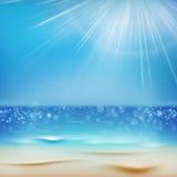 Zonnige dag met zand Eps 10 vector illustratie